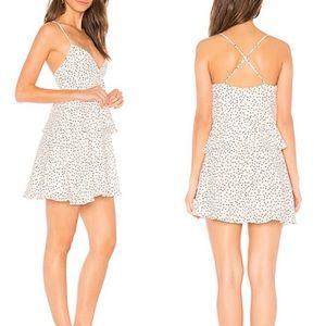 Bardot Spotty Tier Polka Dot Mini Dress Large New